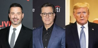 "Late-night Show Hosts Jimmy Kemmel And Stephan Colbert Slam Back At President Trump For His Comments ""No Talent"" Hosts."